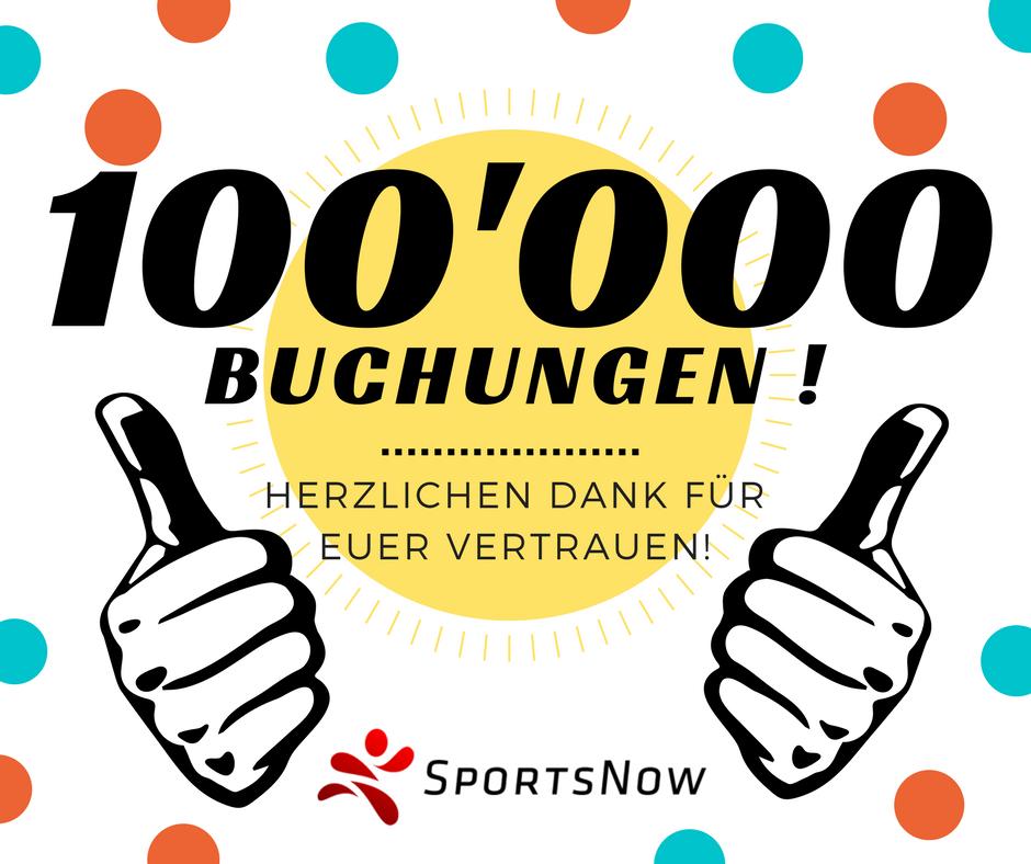 100'000 Buchungen!